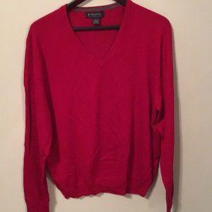 Brooks Brothers Merino Wool Sweater. Cherry Red.